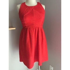 Anthropologie Bordreaux Red Textured Dress